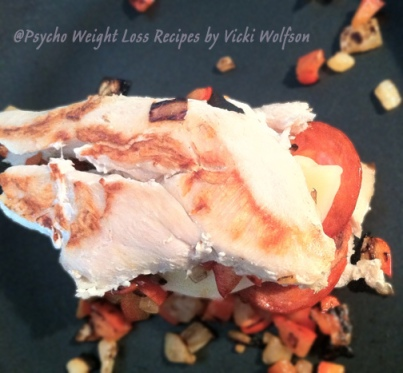 Pizza-Stuffed-Chicken-Cooking