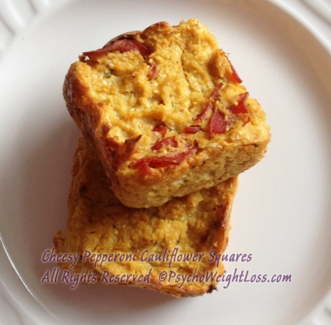 Cheesy-Pepperoni-Cauliflower-Squares