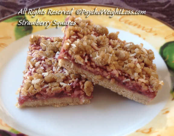 Strawberry Squares, Gluten-Free | Psycho Weight Loss